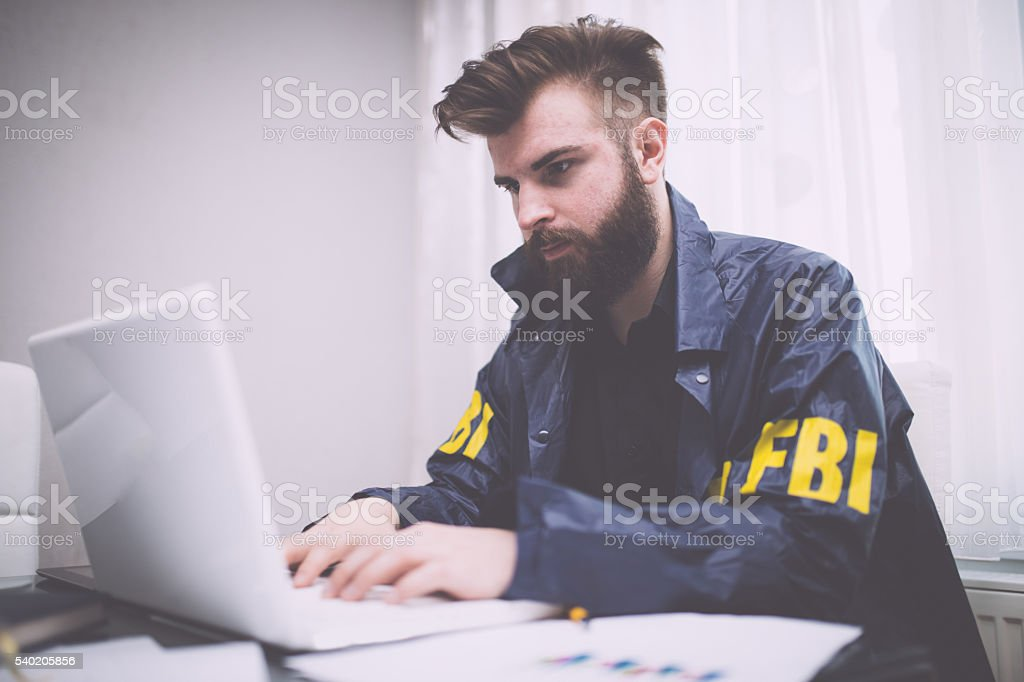Special agent stock photo