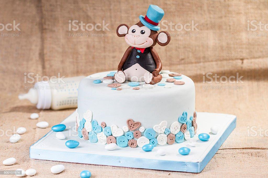 special birthday cake stock photo