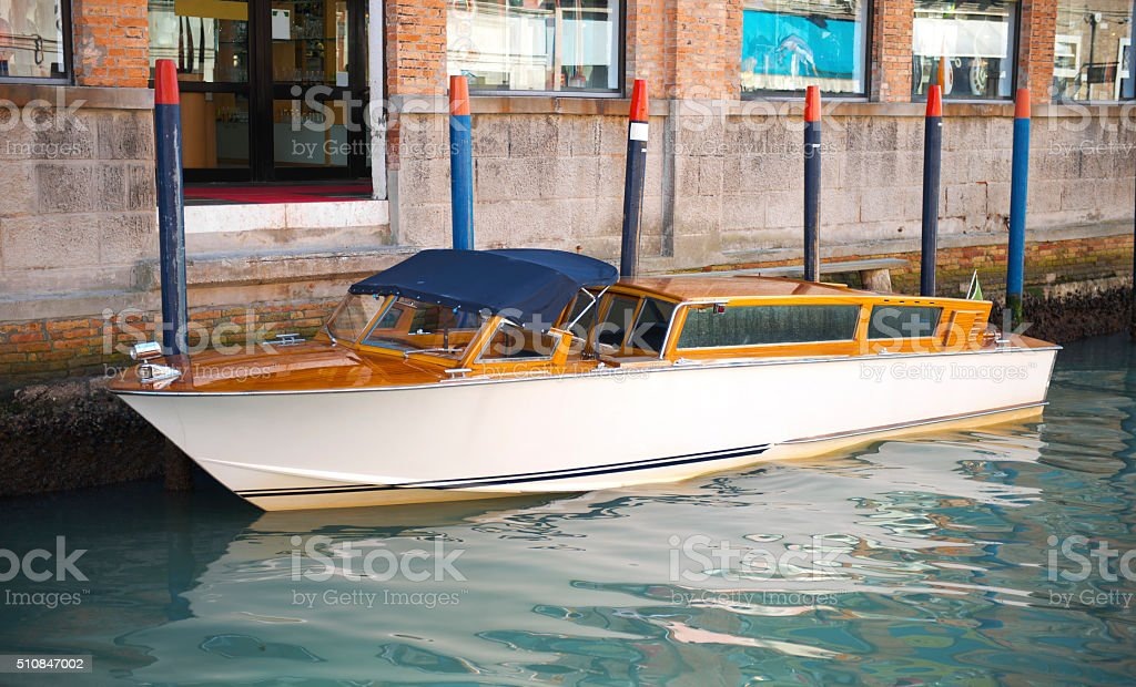 Special Boat at Venice stock photo