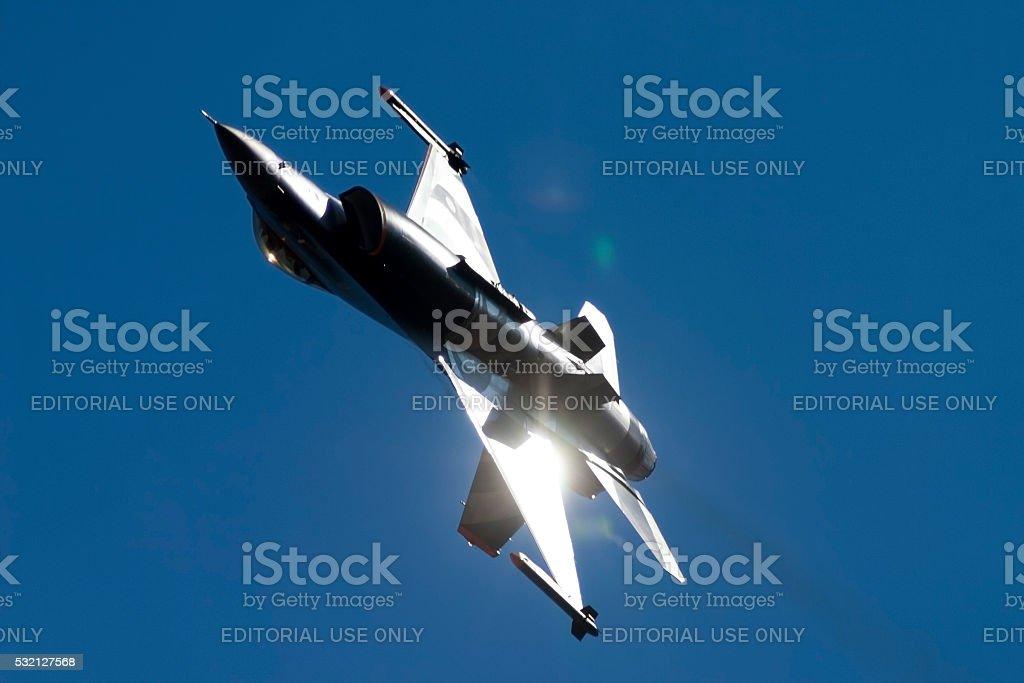 Special color scheme Dutch F-16 stock photo