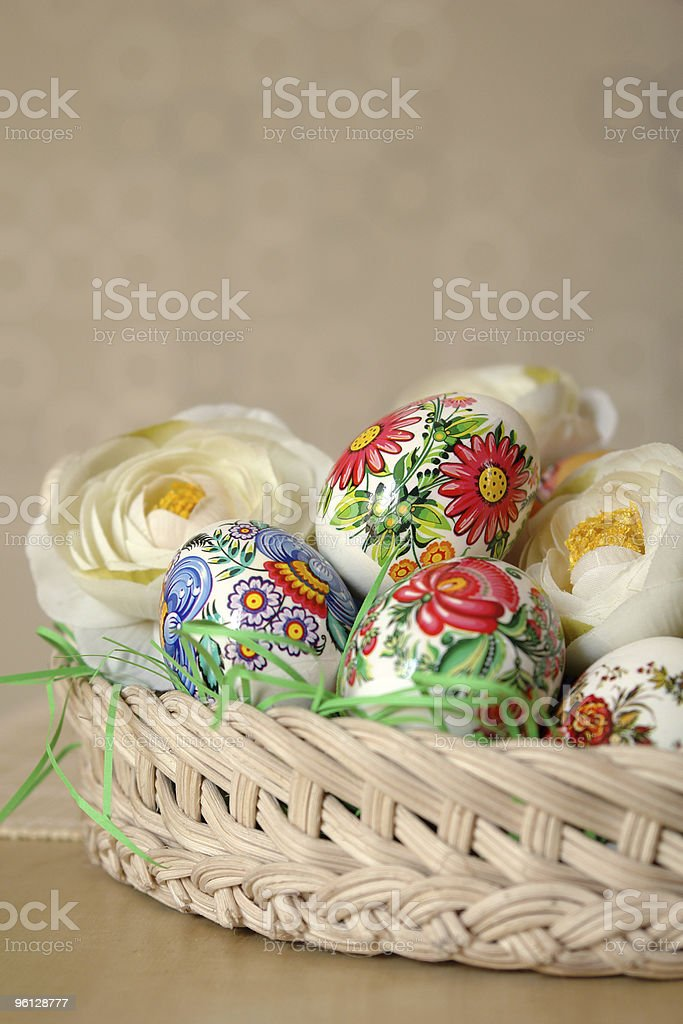 special easter eggs vertical royalty-free stock photo