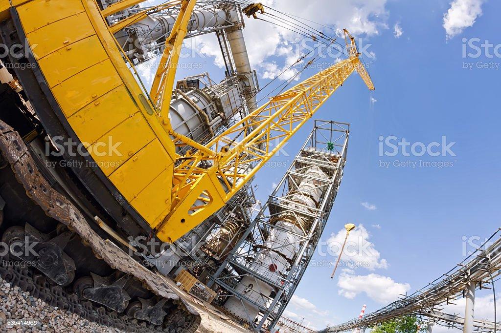Special equipment : crawler crane stock photo