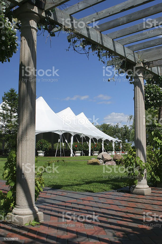 Special Event Large White Tent royalty-free stock photo