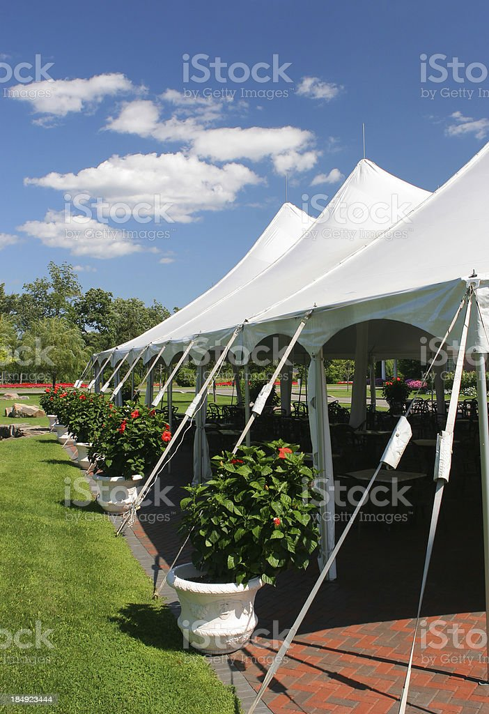 Special Event Large White Tent stock photo