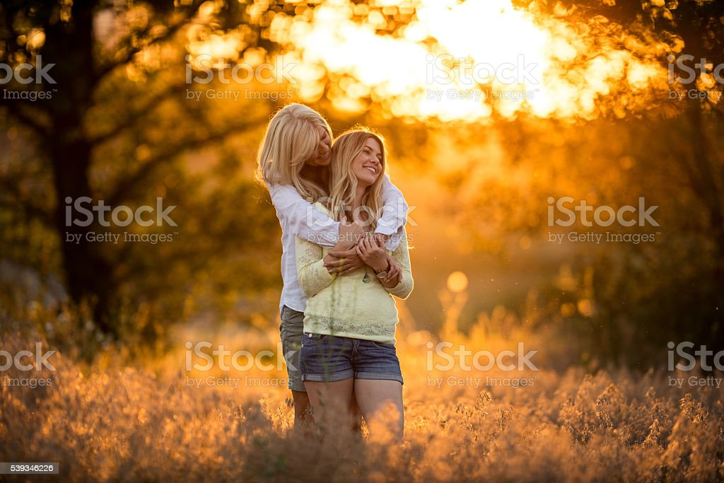Special family bonds stock photo