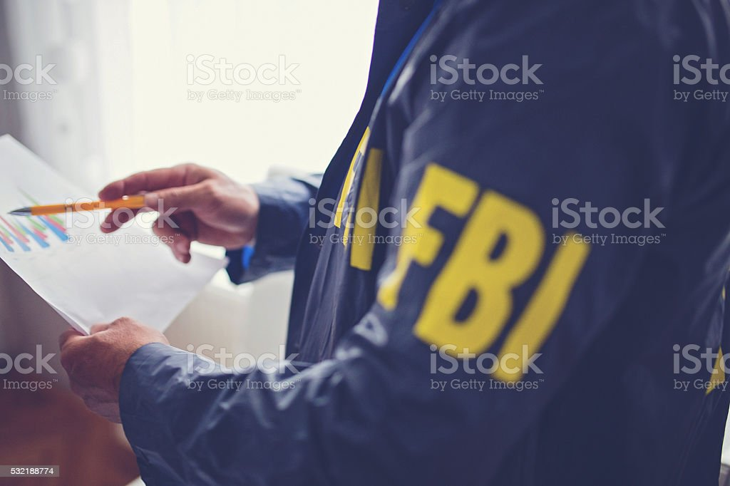 Special FBI agent stock photo