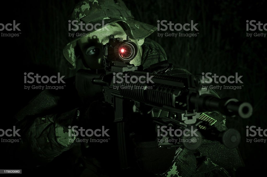 special force soldier royalty-free stock photo