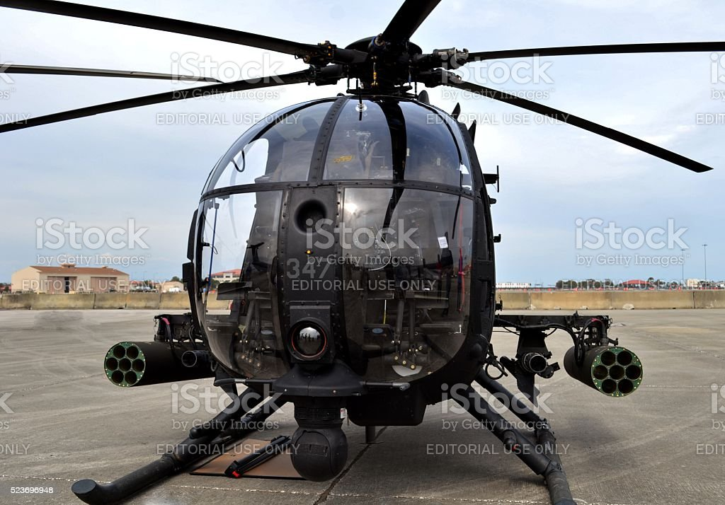 Special Forces AH-6 Little Bird Helicopter stock photo