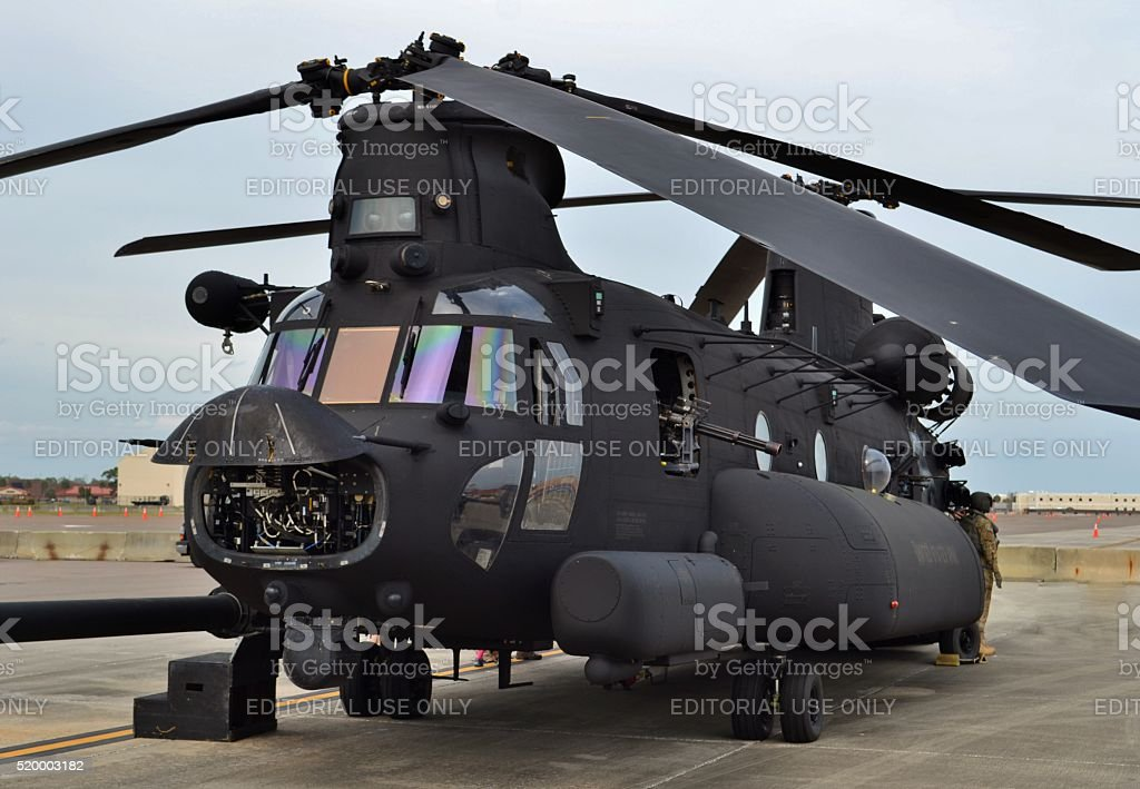 Special Forces CH-47 Chinook Helicopter stock photo