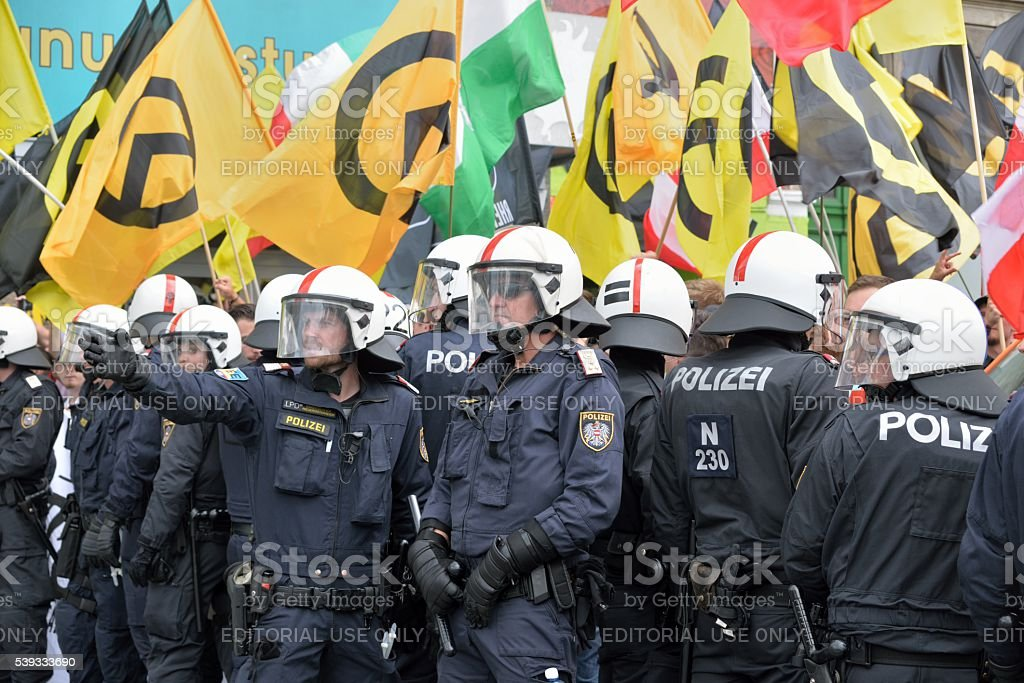 Special forces of the Austrian police stock photo
