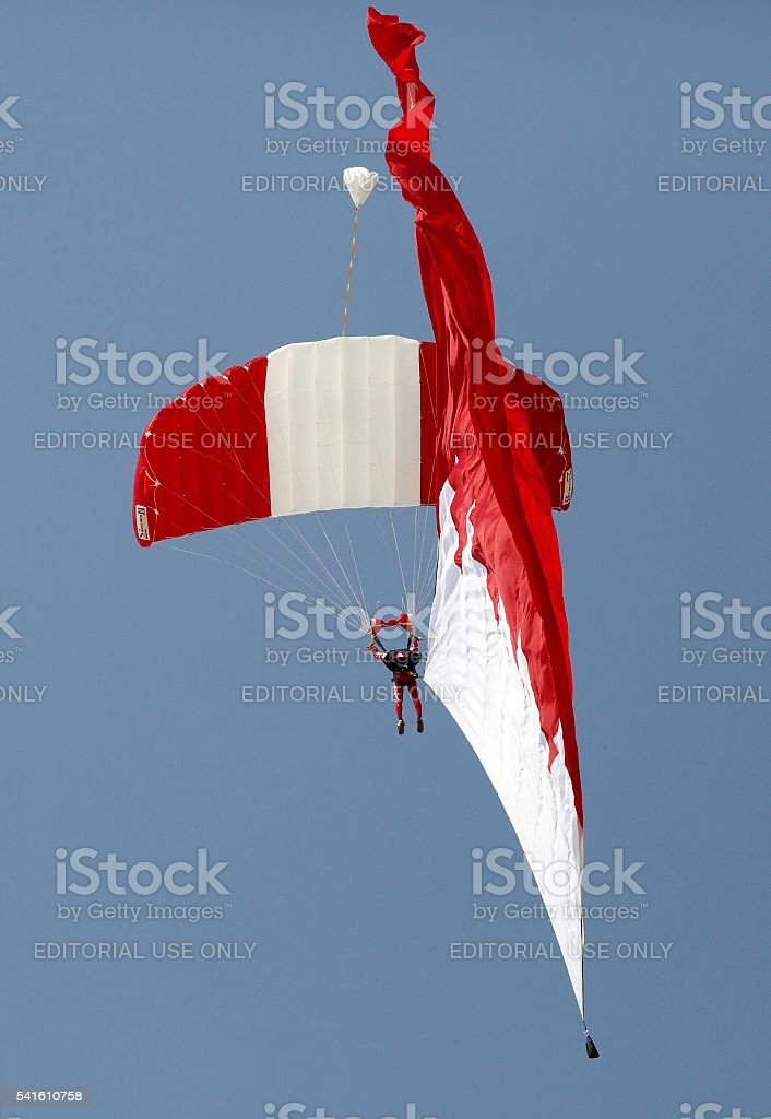 BDF Special Forces Parachute Display Team, Bahrain stock photo