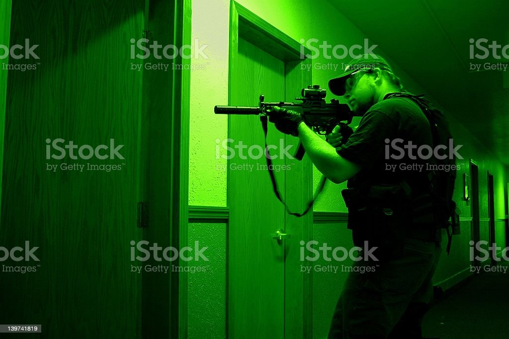 Special Forces (Night Vision) stock photo