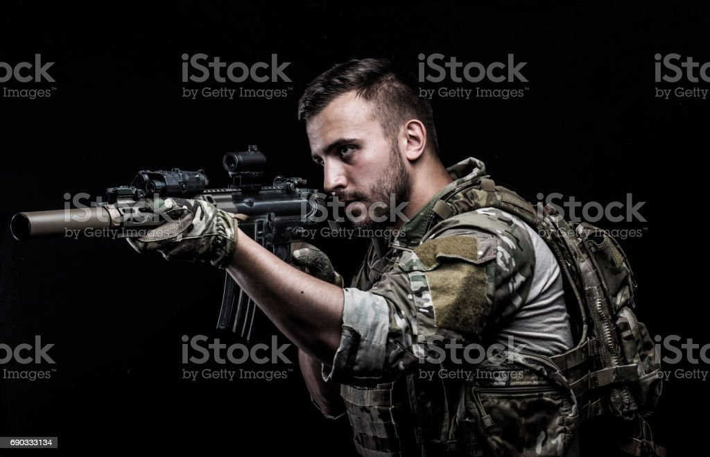 USA Special forces stock photo