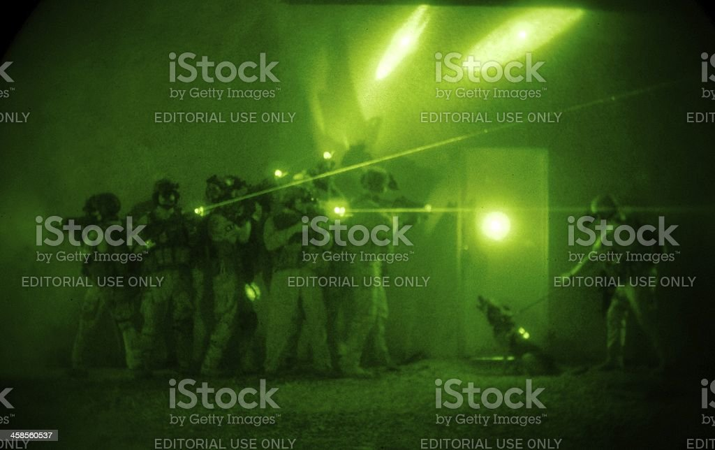Special Forces Raid stock photo