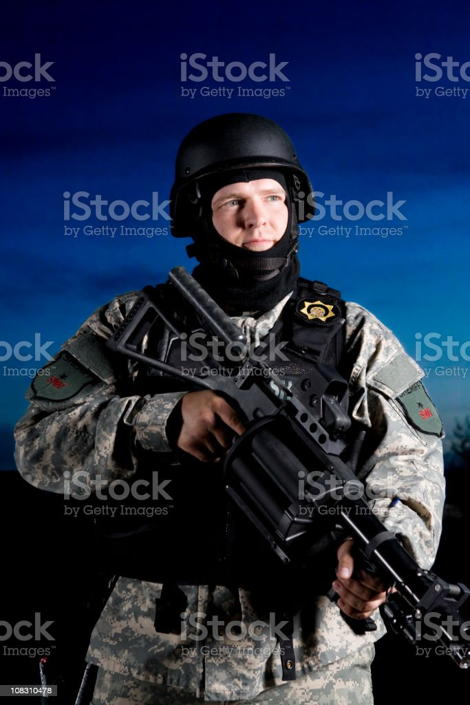 Special forces SWAT officer royalty-free stock photo