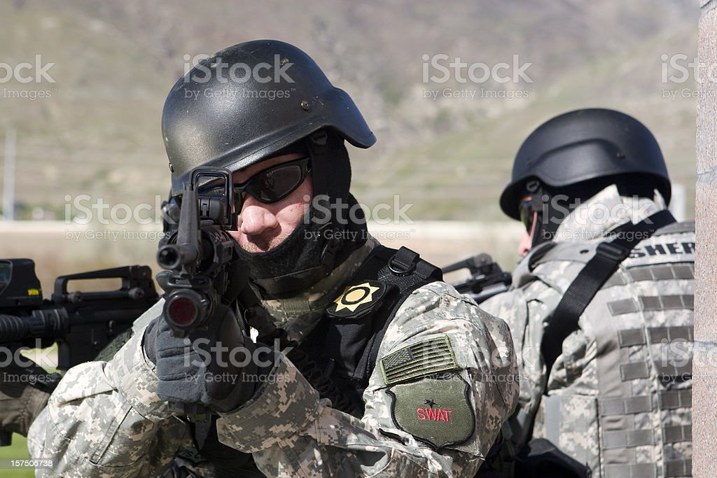 Special forces SWAT team royalty-free stock photo
