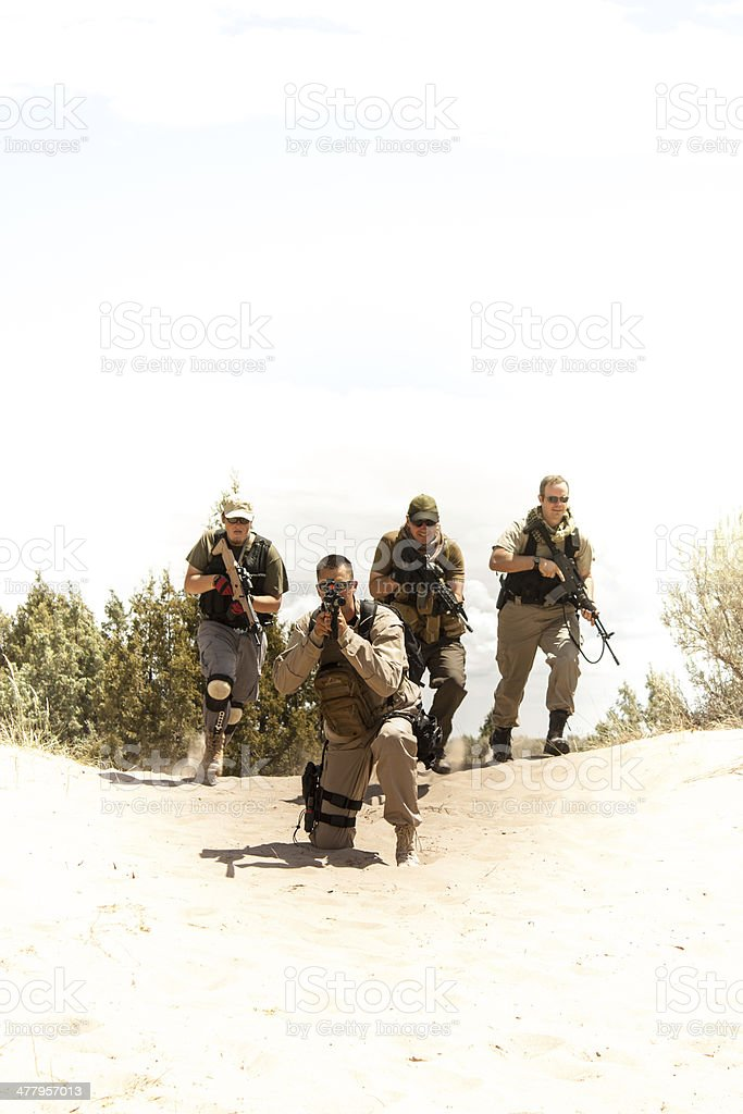 Special Forces tactical team stock photo