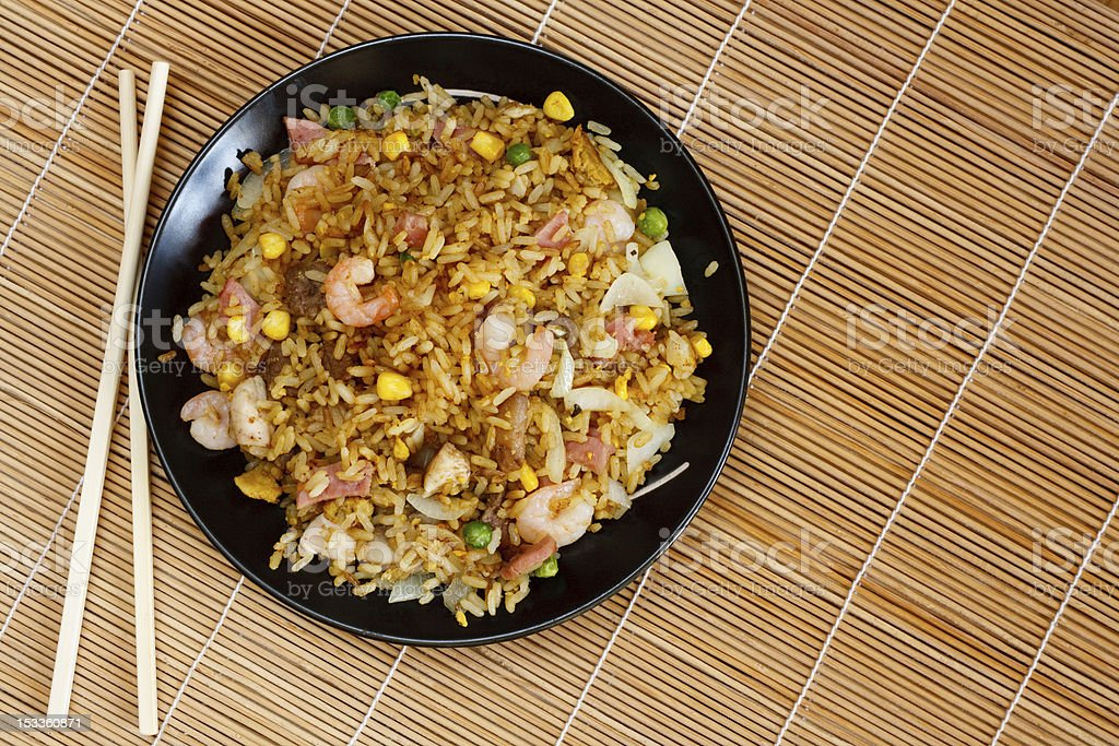 Special fried rice royalty-free stock photo