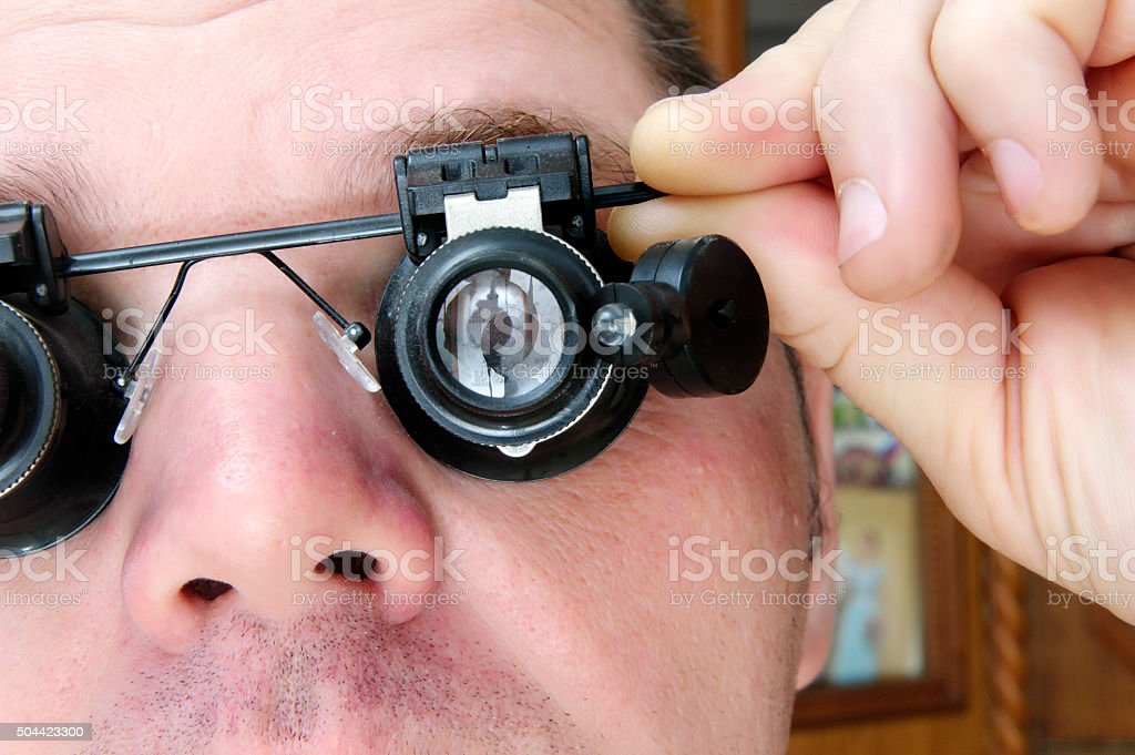 special glasses Microscopes stock photo