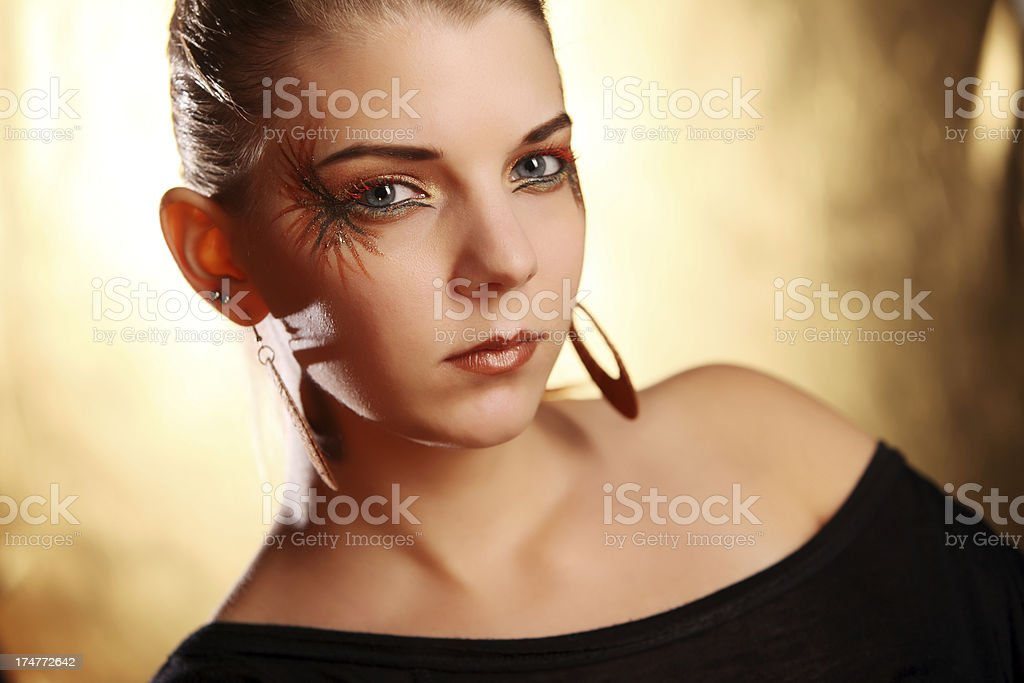 Special lady royalty-free stock photo