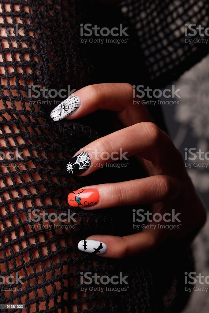 Special nails for Halloween stock photo