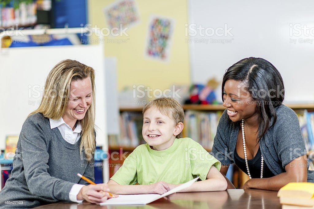 Special Needs Boy stock photo