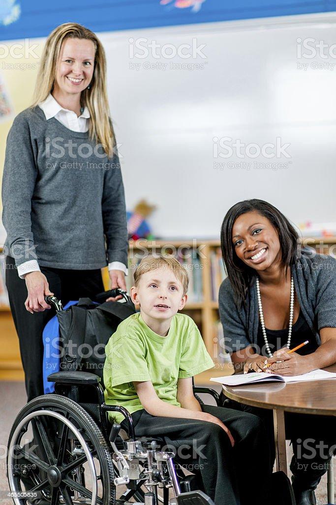 Special Needs Boy stock photo