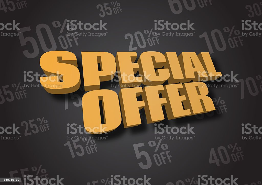 Special Offer 3D illustration stock photo