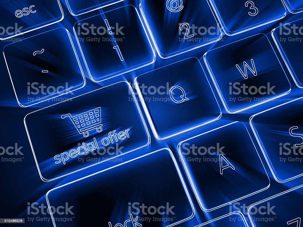 Special offer e-commerce stock photo