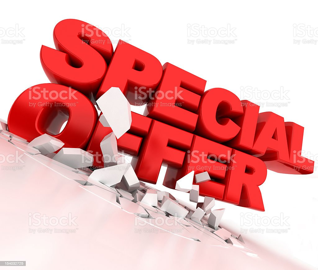special offer in 3d stock photo