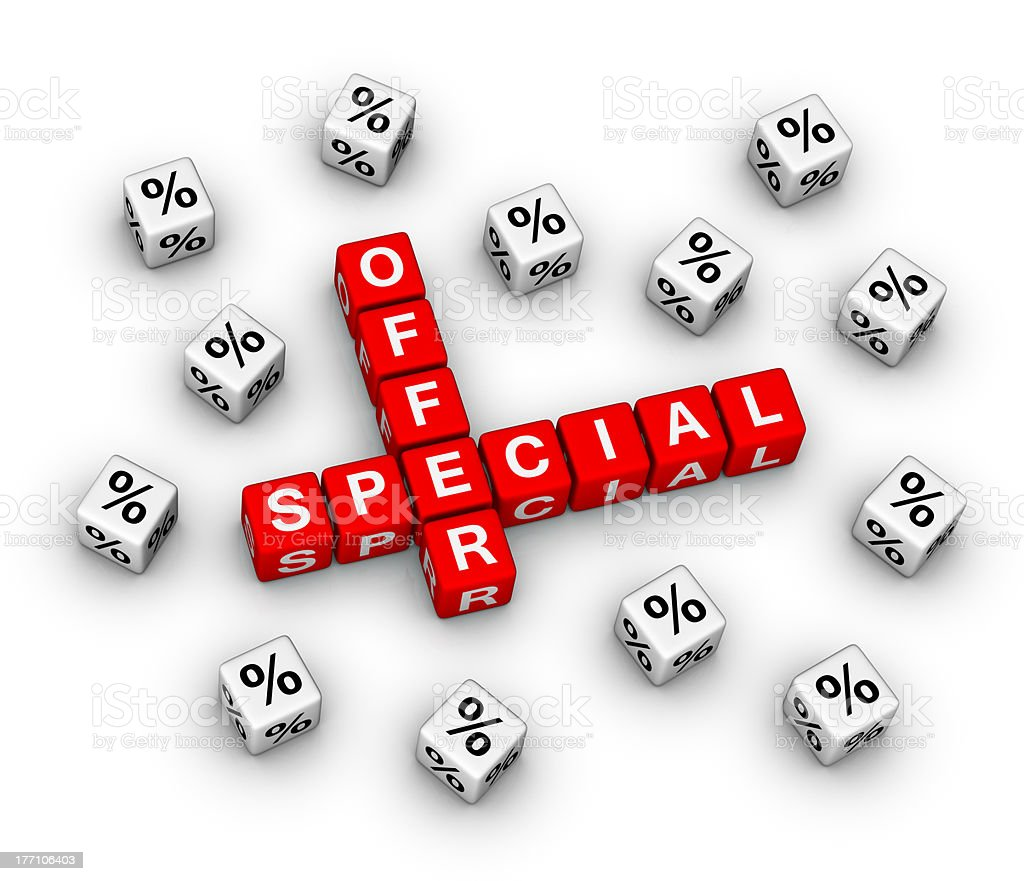 special offer royalty-free stock photo