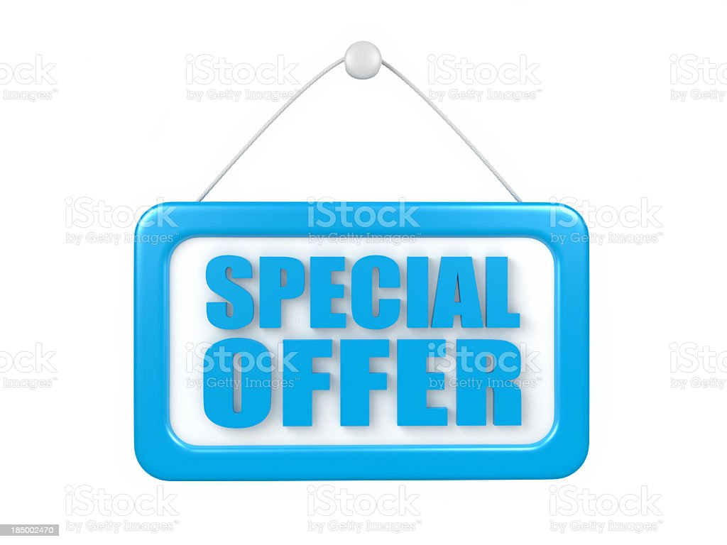 special offer stock photo