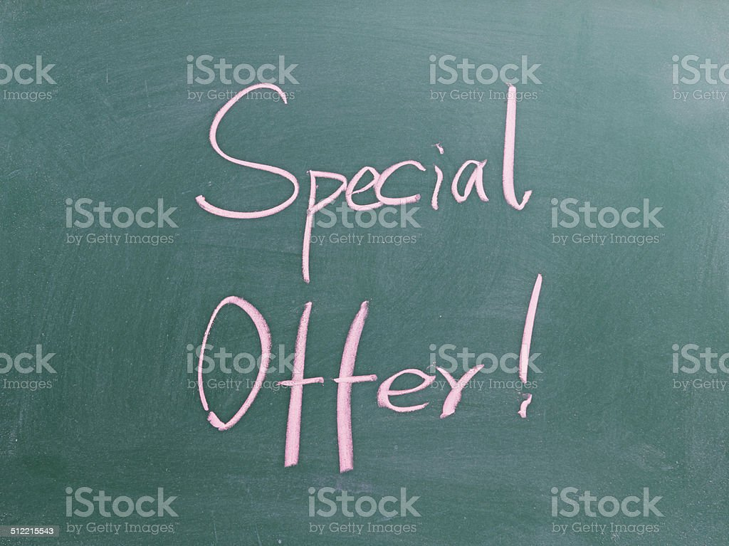 Special offer ! stock photo