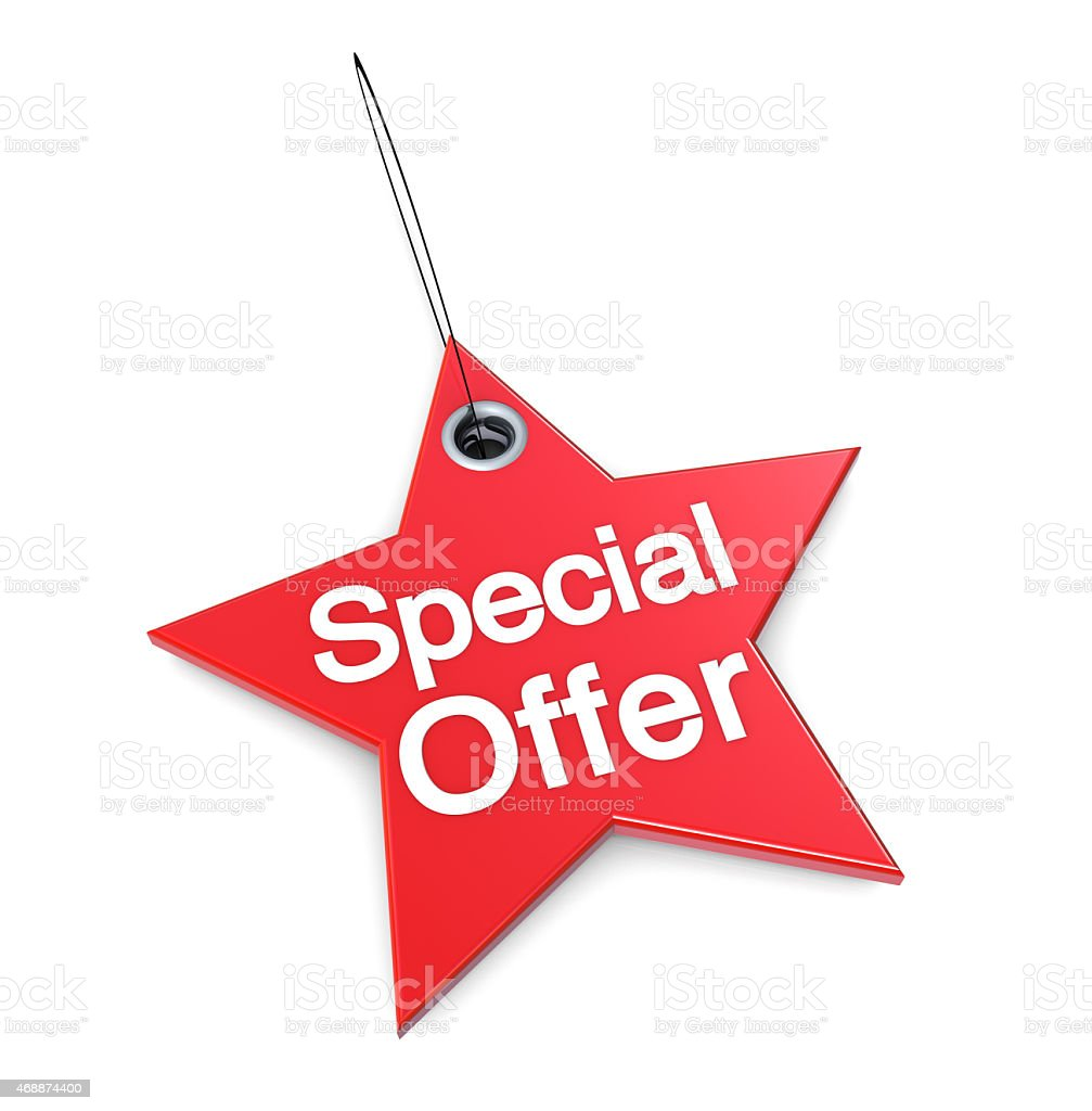 Special Offer Price Tag stock photo
