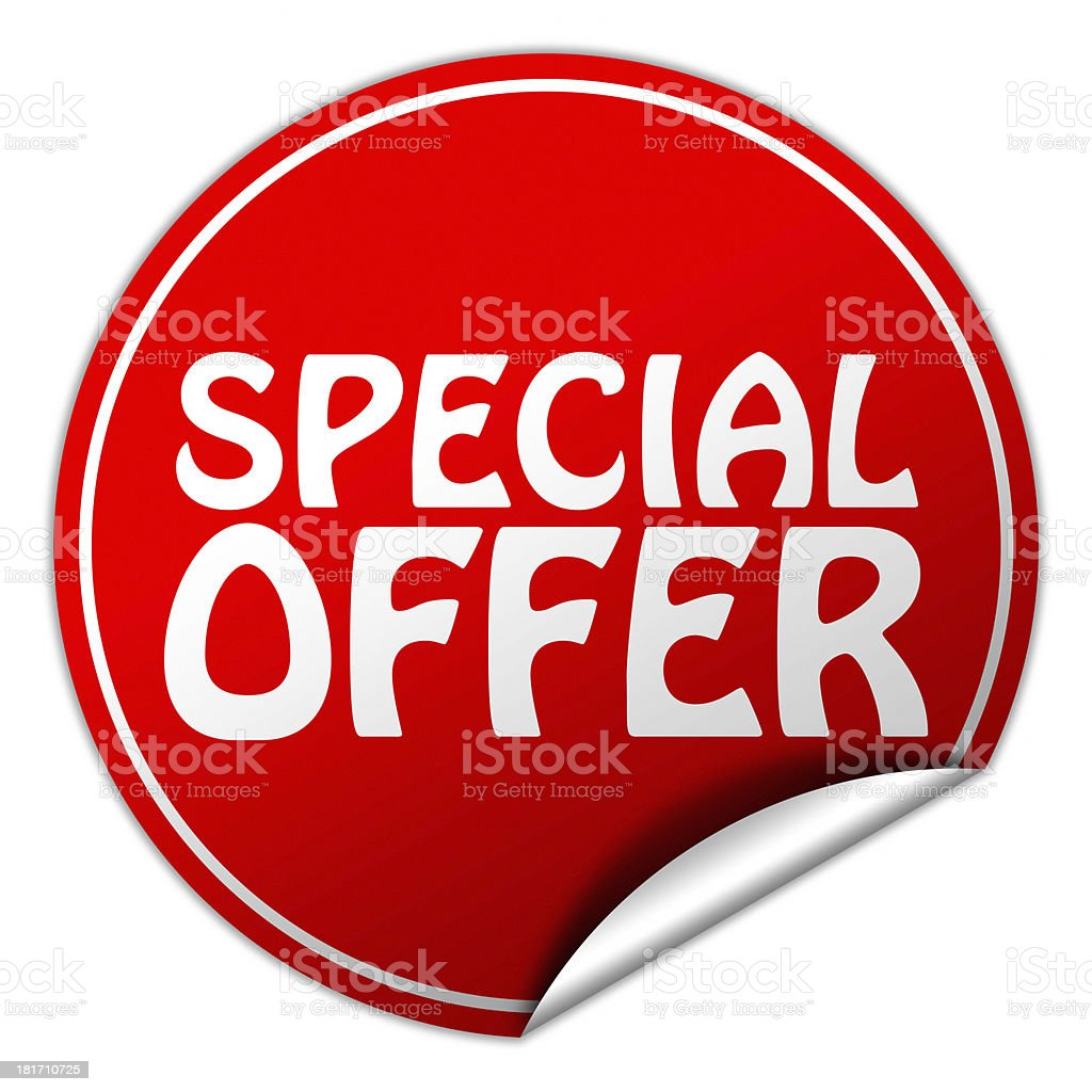special offer sticker royalty-free stock photo