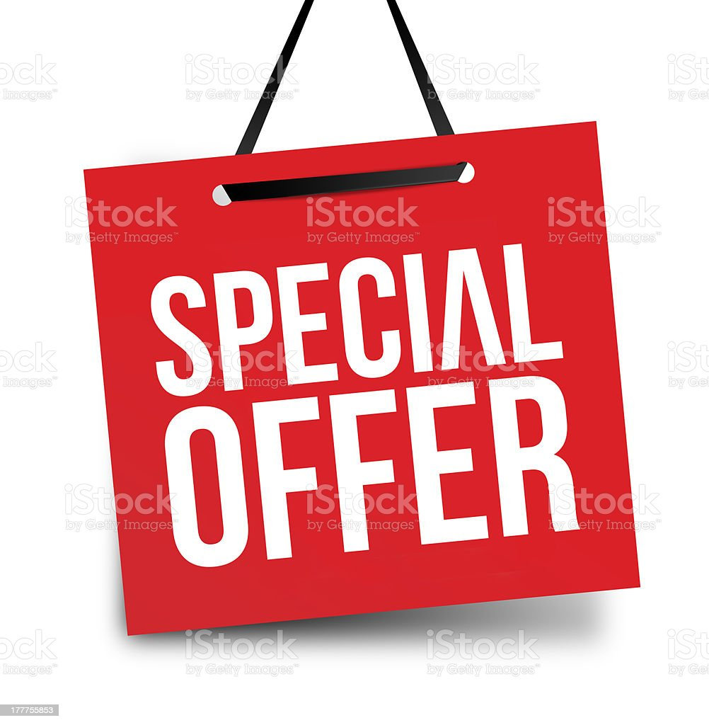 Special offer tags stock photo