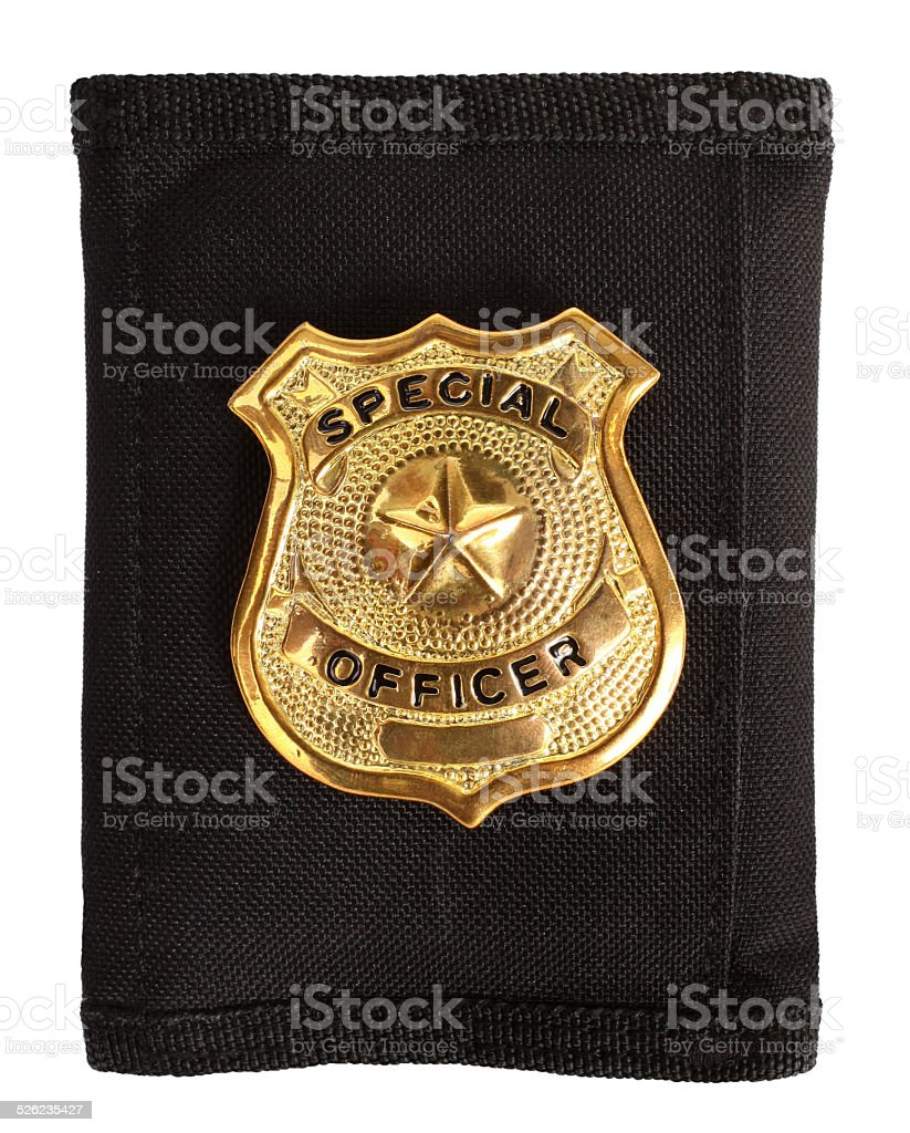 Special officer badge stock photo