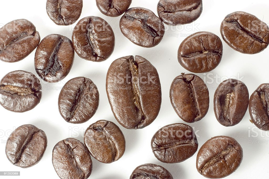 Special one of it's kind - coffee beans royalty-free stock photo