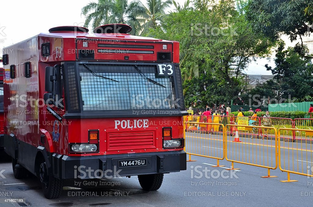 Special Operations Command police control vehicle - Singapore royalty-free stock photo