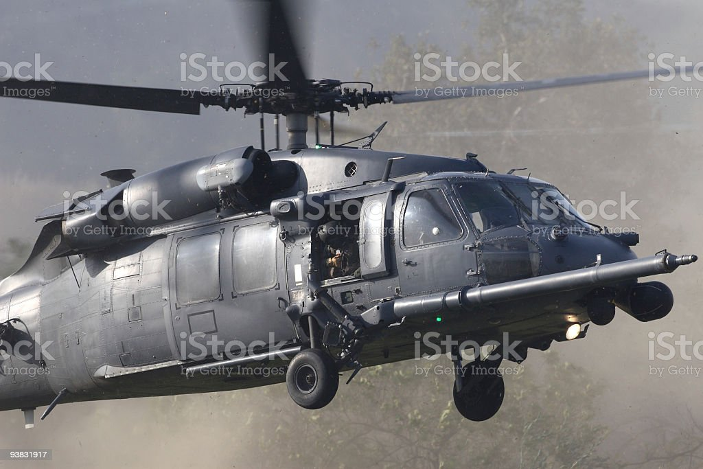 Special Ops Helicopter royalty-free stock photo