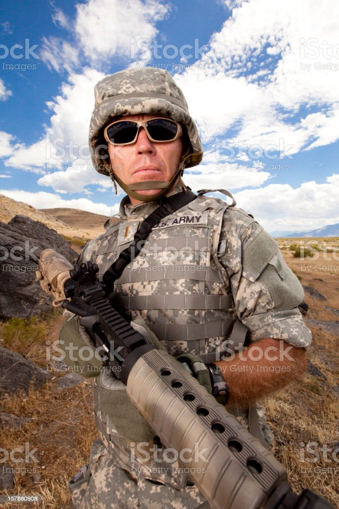 Special ops military soldier royalty-free stock photo
