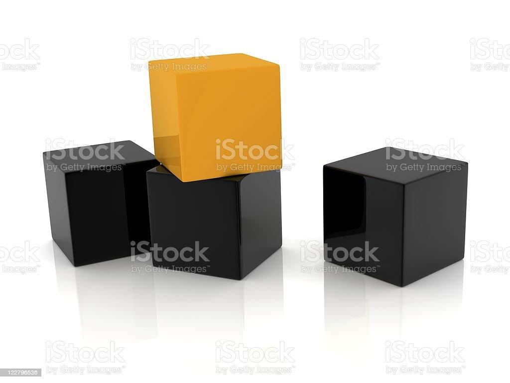 special orange box royalty-free stock photo