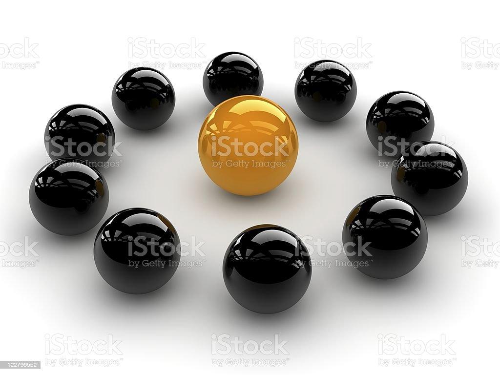 special orange sphere royalty-free stock photo