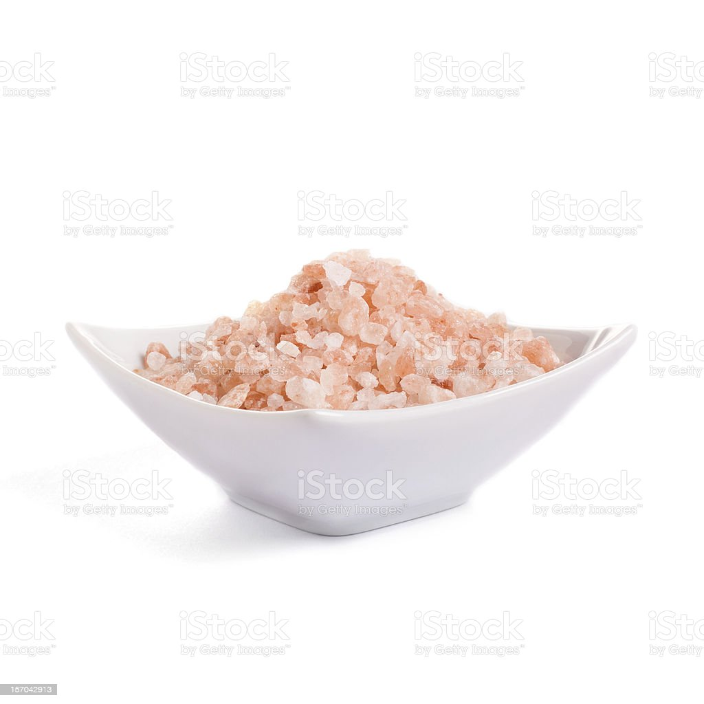 Special pink salt from the Himalayas stock photo