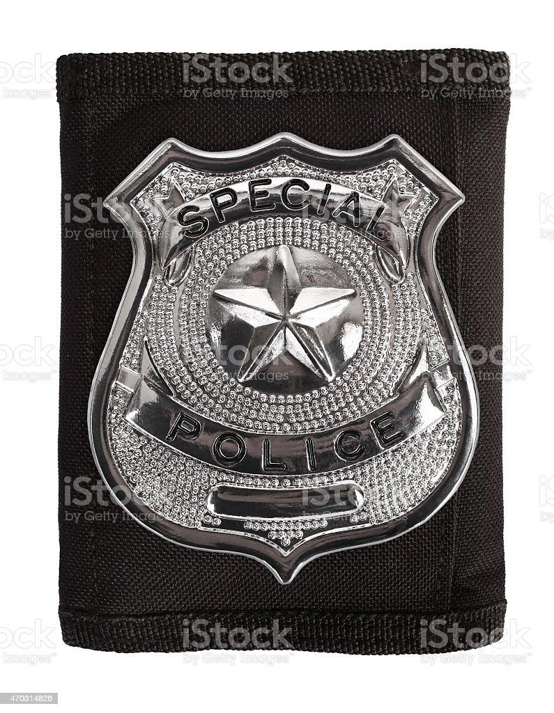 Special police badge stock photo