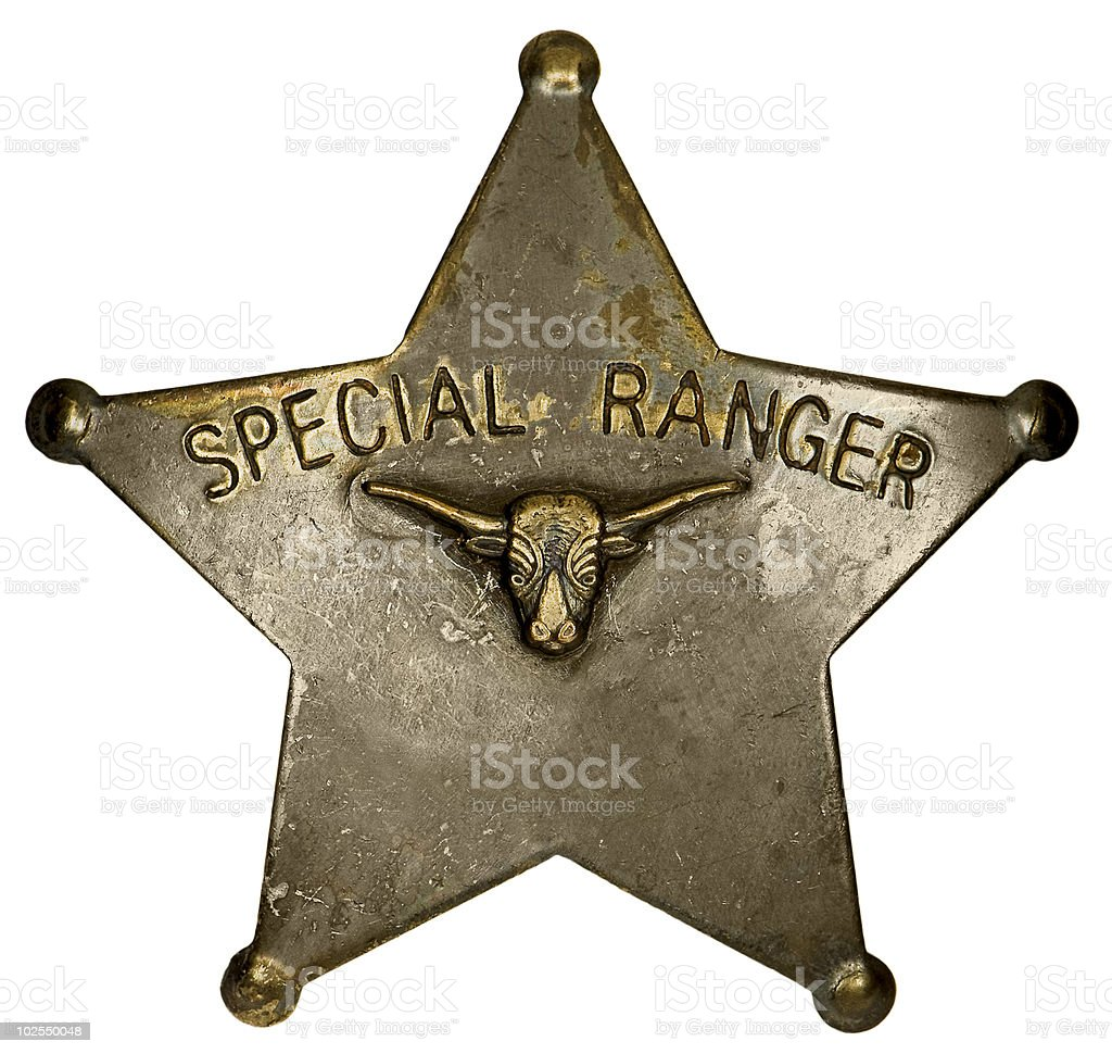 Special Ranger badge stock photo