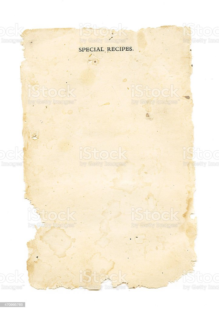 Special Recipes stock photo