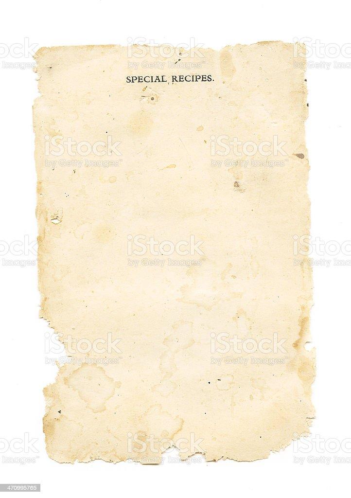 Special Recipes stock photo