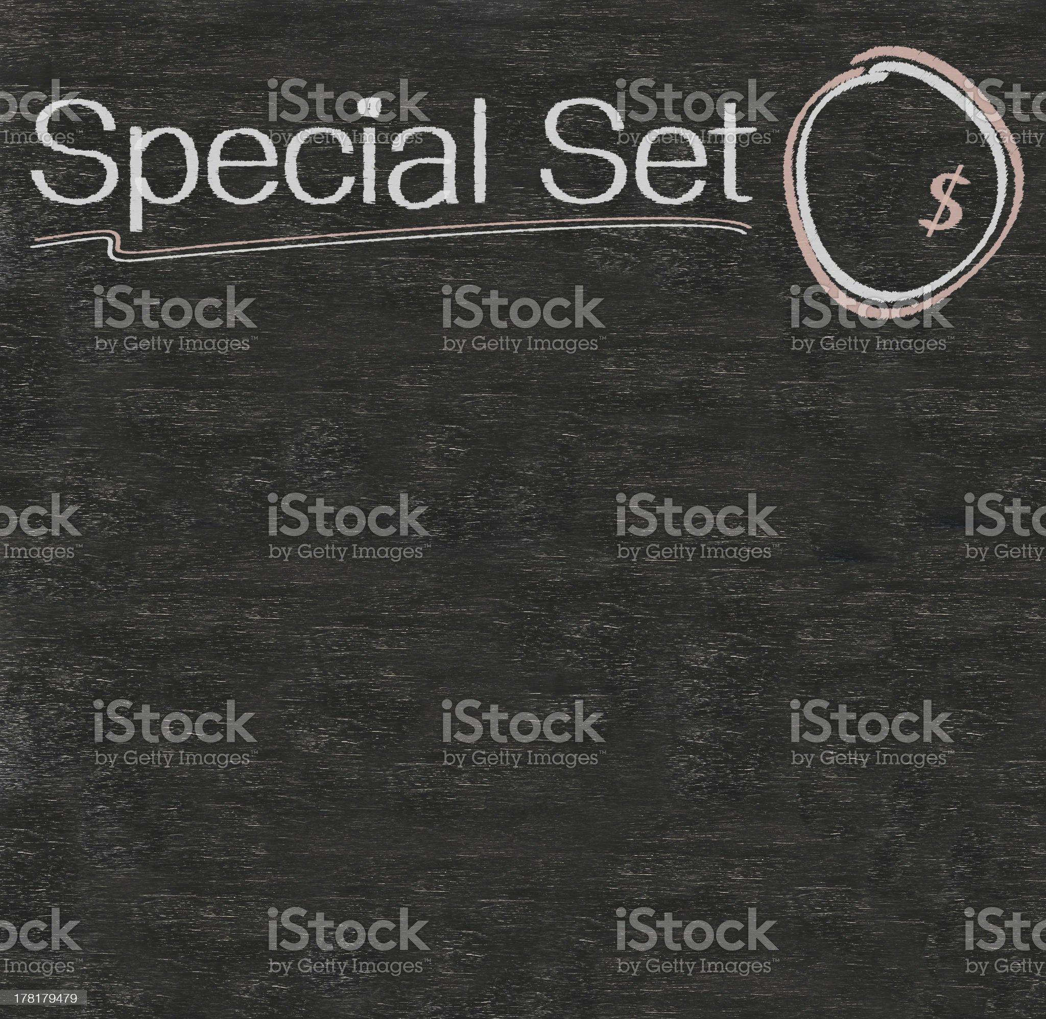 special set written on blackboard royalty-free stock photo