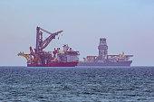 Special ships anchored near Limassol coast, Cyprus